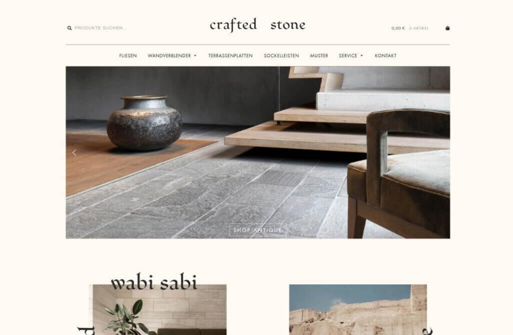 Julian Gapp Referenz Onlineshop Woocommerce Crafted Stone