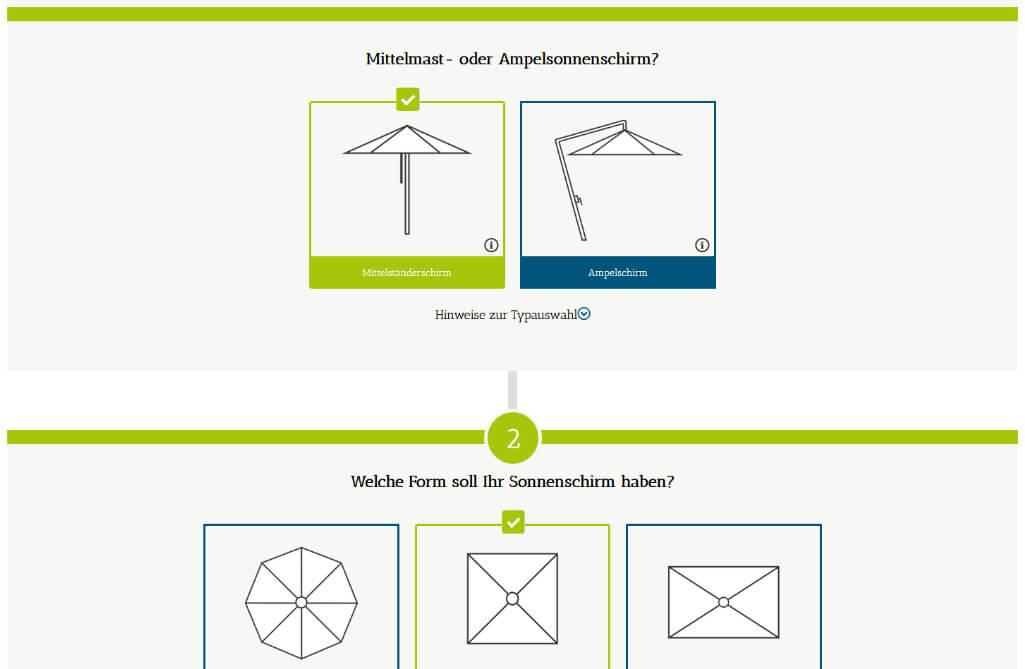 Julian Gapp Referenz Plugin Entwicklung Konfigurator Fuer Sonnenschirme